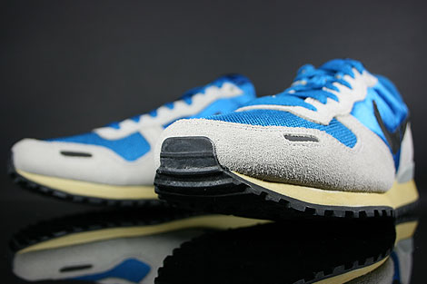 Nike Air Vortex Vintage Blau Grau Schwarz Beige Rueckansicht