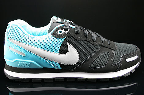 Nike Air Waffle Trainer Black Silver Gamma Blue White