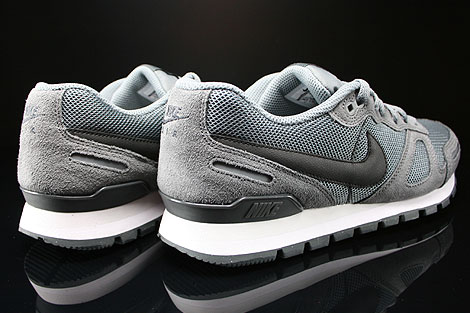 Nike Air Waffle Trainer Cool Grey Black Anthracite Base Grey Back view