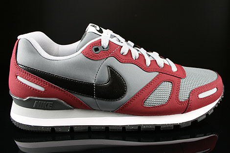 Nike Air Waffle Trainer Dark Grey Wolf Grey Team Red White Right