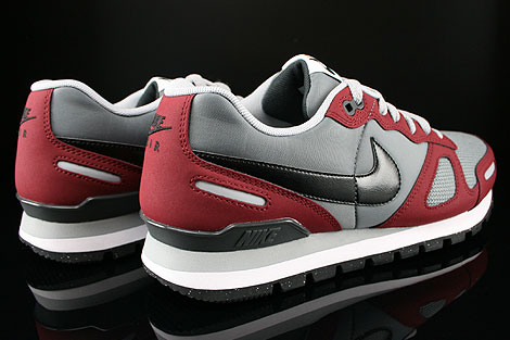 Nike Air Waffle Trainer Dark Grey Wolf Grey Team Red White Back view