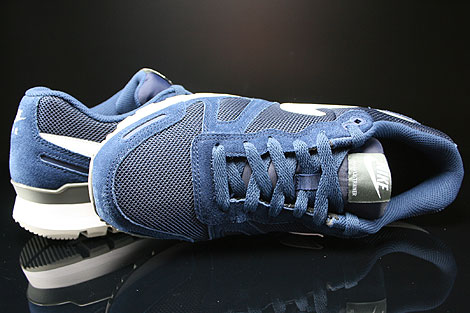 Nike Air Waffle Trainer Midnight Navy White Base Grey Over view