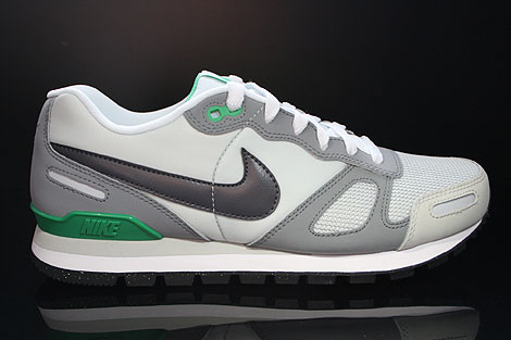Nike Air Waffle Trainer Pure Platinum Dark Grey White Green Right