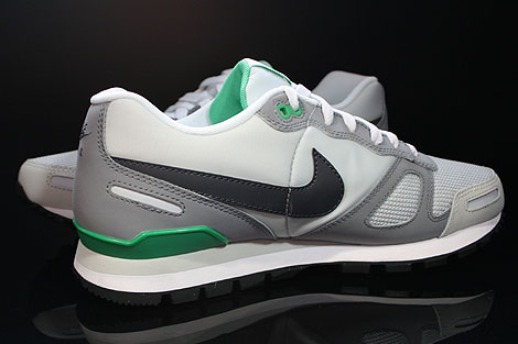 Nike Air Waffle Trainer Pure Platinum Dark Grey White Green Inside