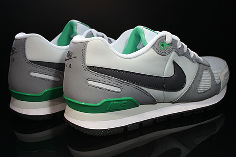 Nike Air Waffle Trainer Pure Platinum Dark Grey White Green Back view