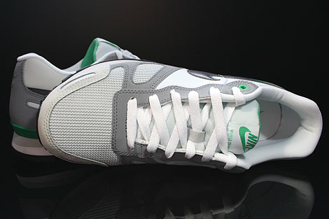 Nike Air Waffle Trainer Pure Platinum Dark Grey White Green Over view