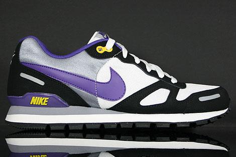 Nike Air Waffle Trainer White Purple Black
