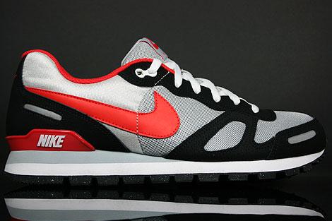 Nike Air Waffle Trainer Grau Schwarz Rot Weiss