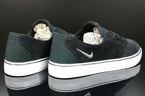 Nike Braata Schwarz Weiss Silber Rueckansicht