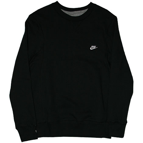 Nike Brushed Crew Fleece Sweater Schwarz