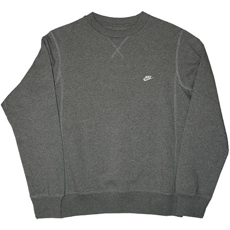 Nike Brushed Crew Fleece Sweater Grey Right