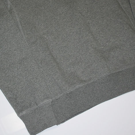 Nike Brushed Crew Fleece Sweater Grey Sidedetails
