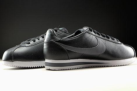 Nike Classic Cortez Leather Schwarz Dunkelgrau Weiss Innenseite