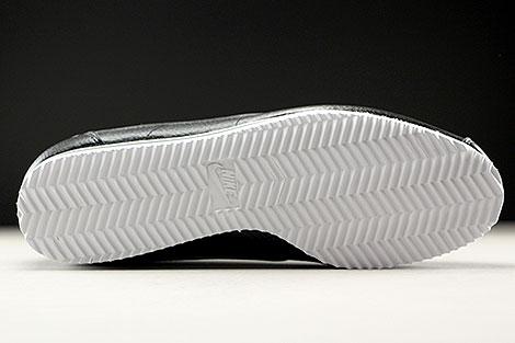 Nike Classic Cortez Leather Schwarz Dunkelgrau Weiss Laufsohle