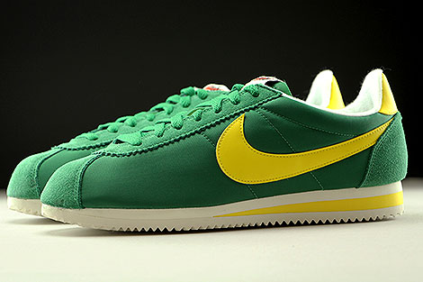 online store 11d87 29fc1 green and yellow nike cortez