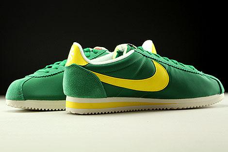 Nike Classic Cortez Nylon AW Gruen Gelb Creme Innenseite
