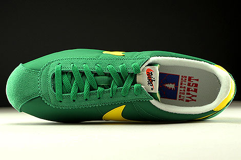 Nike Classic Cortez Nylon AW Pine Green Opti Yellow Sail Over view