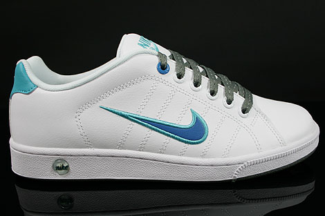 Nike Court Tradition 2 Weiss Blau Tuerkis Grau