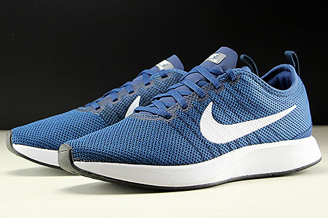 Nike Dualtone Racer Midnight Navy White Sidedetails