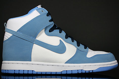 Nike Dunk Hi White University Blue Obsidian