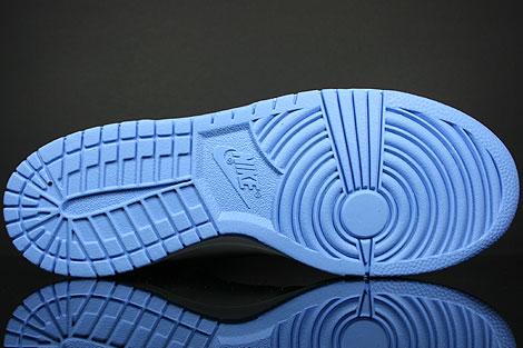 Nike Dunk Hi White University Blue Obsidian Outsole