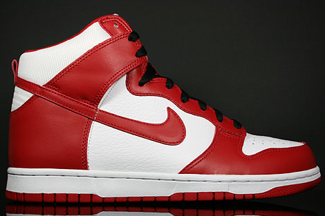 Nike Dunk Hi White Varsity Red Black