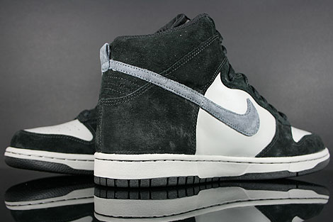 Nike Dunk High Black Anthracite Medium Grey Back view