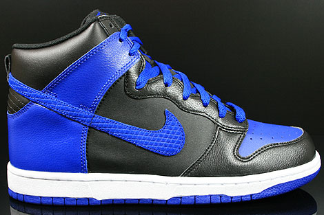 Nike Dunk High Black Old Royal White