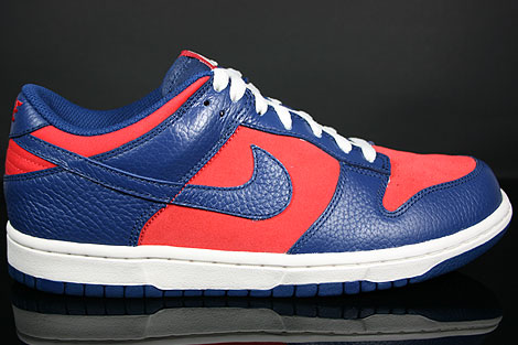 Nike Dunk Low CL Orange Blau Creme Seitenansicht