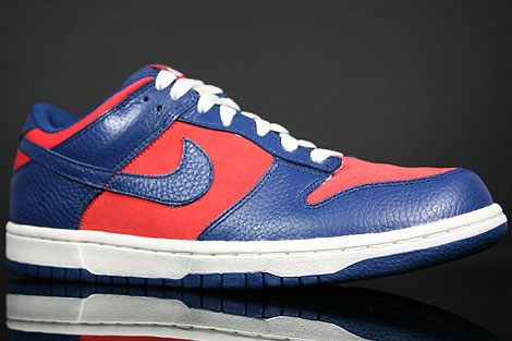 Nike Dunk Low CL Orange Blau Creme Seitendetail
