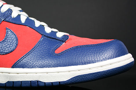 Nike Dunk Low CL Orange Blau Creme Innenseite