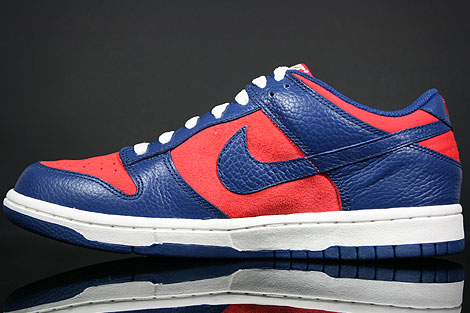 Nike Dunk Low CL Orange Blau Creme Rueckansicht