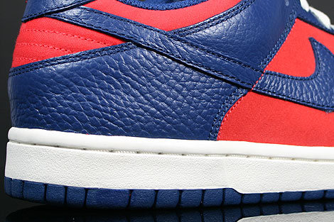 Nike Dunk Low CL Orange Meteor Blue Sail Outsole