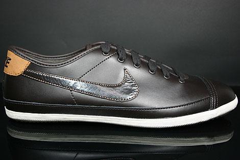 Nike Flash Leather Dunkelbraun Braun Creme Seitenansicht
