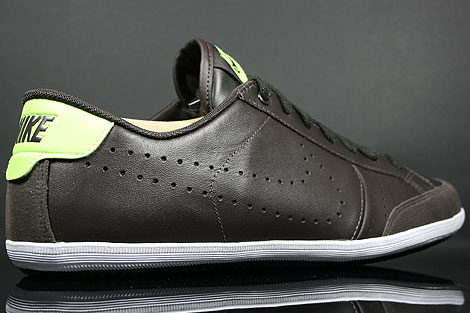 Nike Flyclave Leather Velvet Brown Volt White Over view