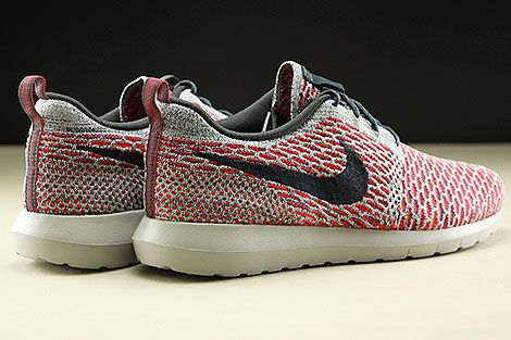 Nike Flyknit Rosherun Bright Crimson Anthracite Pure Platinum White Back view