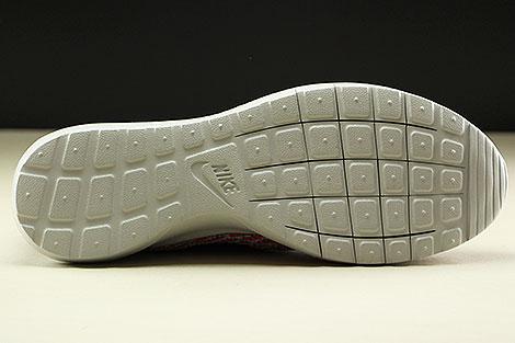 Nike Flyknit Rosherun Bright Crimson Anthracite Pure Platinum White Laufsohle