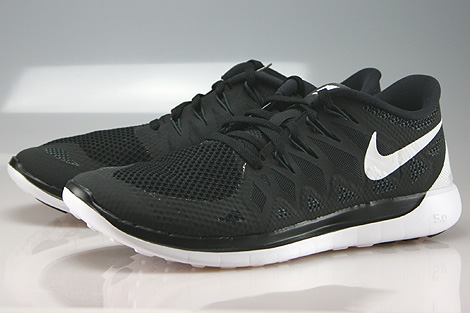 Nike Free 5.0 Black White Anthracite Sidedetails