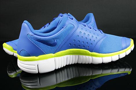 Nike Free 5.0 V4 Blau Weiss Neongelb Innenseite