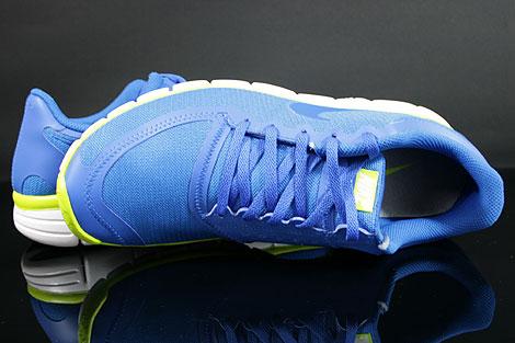 Nike Free 5.0 V4 Blau Weiss Neongelb Oberschuh