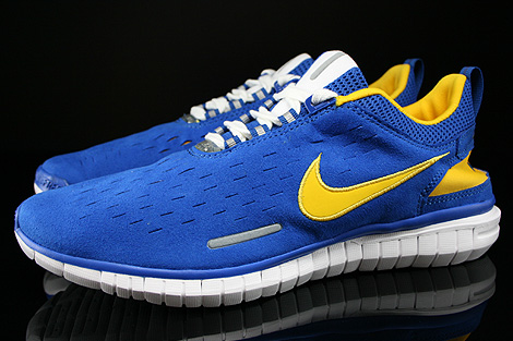 Nike Free OG 14 Sport Royal Varsity Maize White Black Profile