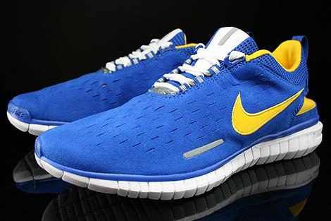 Nike Free OG 14 Blau Gelb Weiss Schwarz Seitendetail