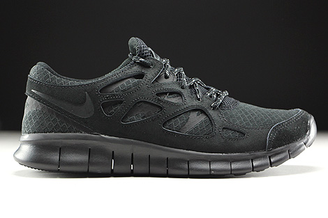 nike free run black grey