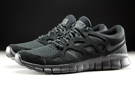 Nike Free Run 2 Black Dark Grey Profile
