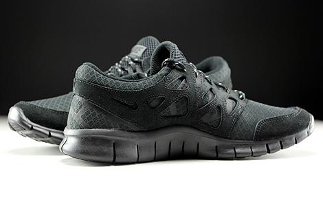 Nike Free Run 2 Schwarz Anthrazit Innenseite