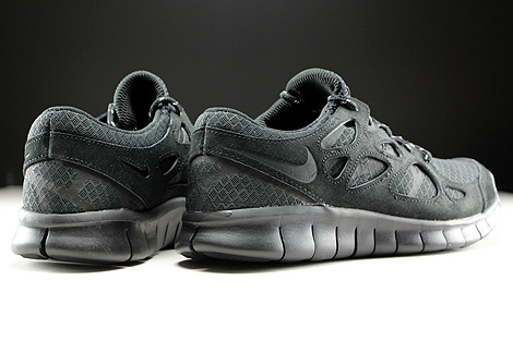 Nike Free Run 2 Black Dark Grey Back view