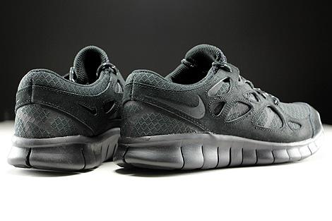 Nike Free Run 2 Schwarz Anthrazit Rueckansicht