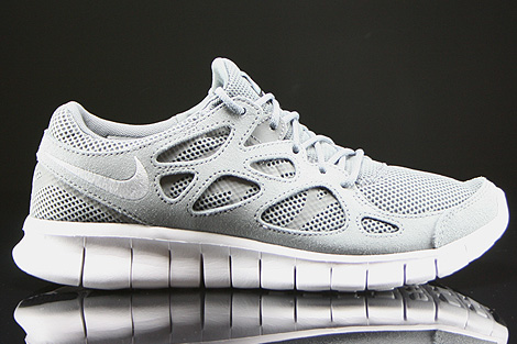 watch 08dde ee7af nike free run 2 white grey