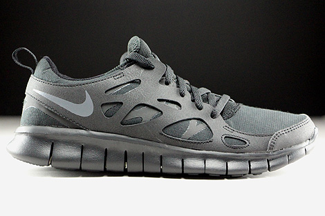 Nike Free Run 2 GS Black Dark Grey 443742-023 - Purchaze