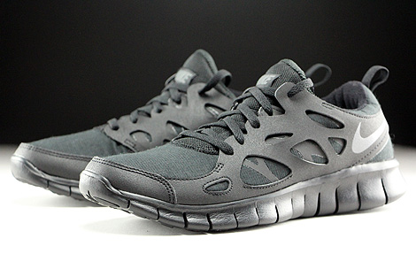 Nike Free Run 2 GS Black Dark Grey Sidedetails